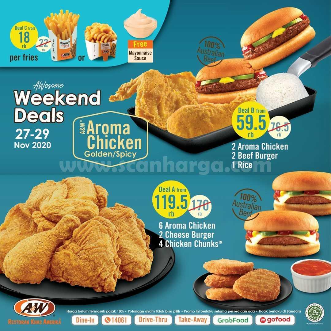 Promo AW Restoran Weekend Deals Periode 27 - 29 November 2020