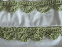 image of cream white sheet and knit edging
