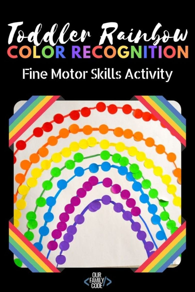 Toddler color recognition spring activity.