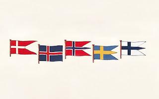Bendera 5 Negara Nordik | Catatanadi.com
