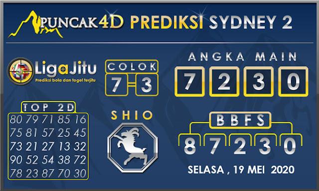 PREDIKSI TOGEL SYDNEY2 PUNCAK4D 19 MEI 2020