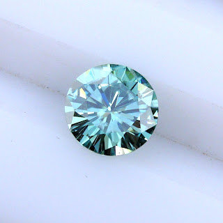blue moissanite