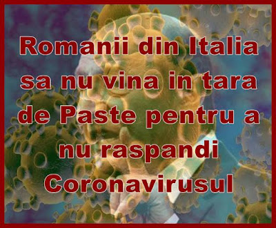 statul sa interzica romanilor din italia sa vina in tara de paste