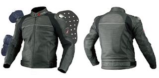 jaket touring bahan kulit