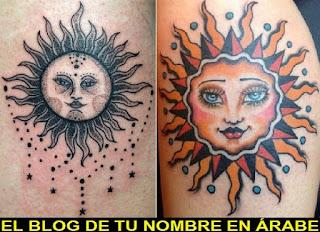 Tattoos con los simbolos del sol
