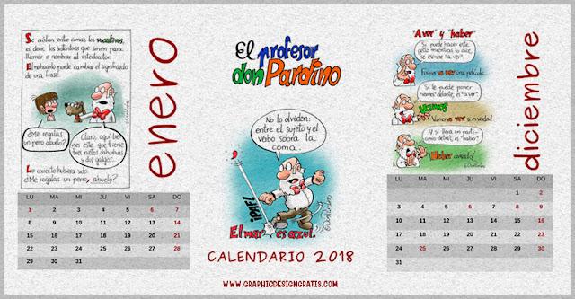 Calendario ortográfico 2018 para descargar en PDF