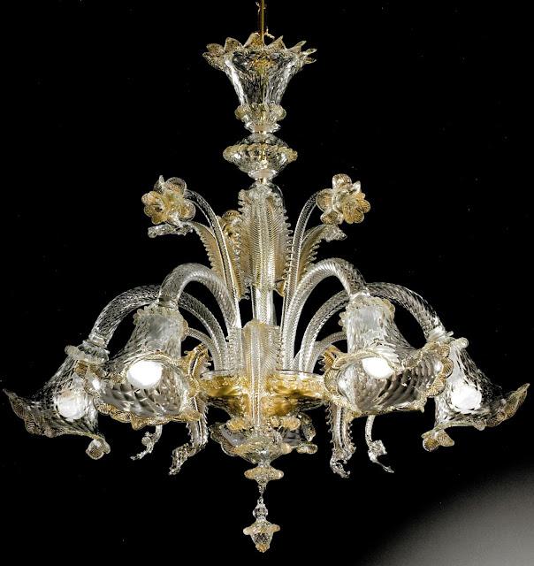 lampadario-di-murano-in-vetro-soffiato-trasparente-con-oro