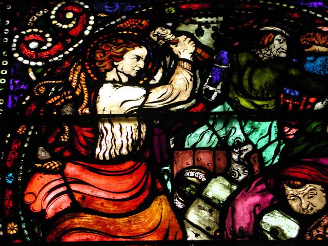 vetrata realizzata da Emanuel Vigeland nella cattedrale di oslo
