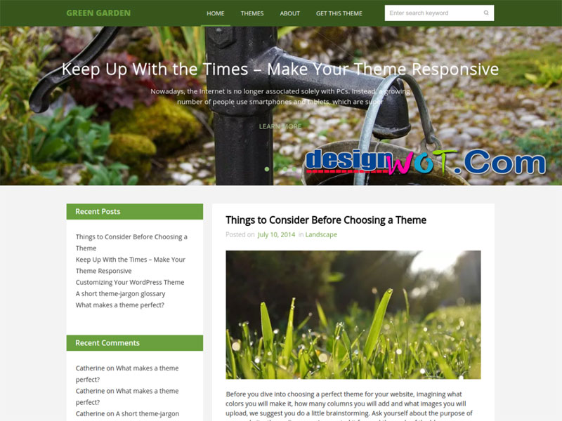 Green Garden WordPress Theme