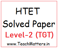 image: HTET TGT Solved Question Paper Level-2 2019 @ TeachMatters