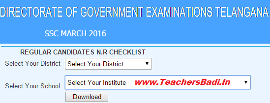 TS SSC 2017,Online Student's Nominal Rolls,Data,Information