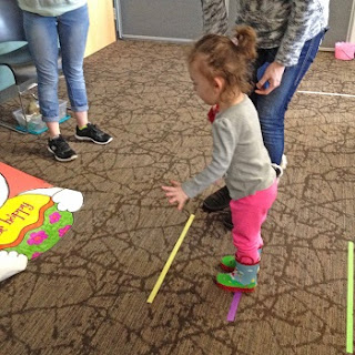 playing bunny games at the nature center