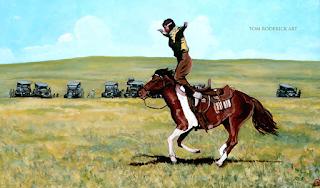 Babette Rides Again by Boulder portrait artist Tom Roderick