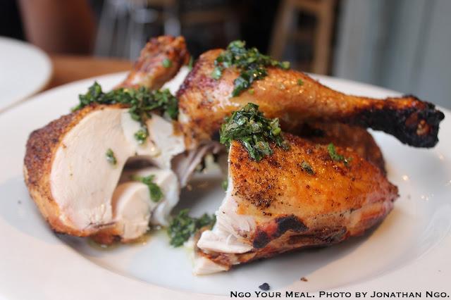 Pollo al forno: Jonathan Waxman chicken & salsa verde at Barbuto