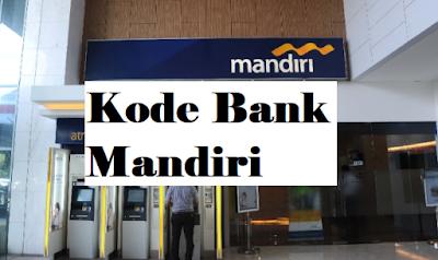 Kode Transfer Bank Mandiri