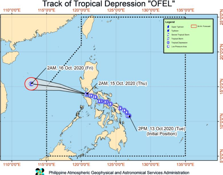 'Bagyong Ofel' PAGASA weather update October 15, 2020