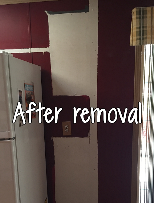 after removing wall