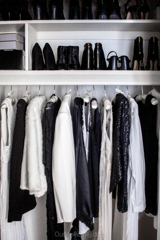 Black and white wardrobe