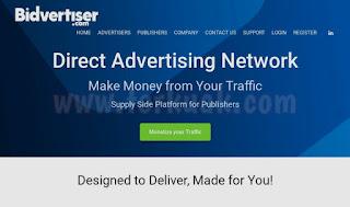 Bidvertiser Iklan Popunder dan Popup Terbaik
