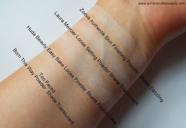 Laura Mercier Loose Setting Powder Shade Translucent swatches