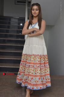 Telugu Actress Anu Emmanuel New Stills in Beautiful White Long Dress  0094.JPG