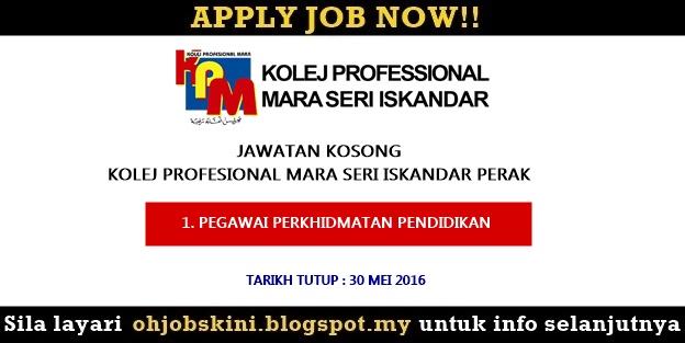Iklan jawatan kosong Kolej Profesional MARA