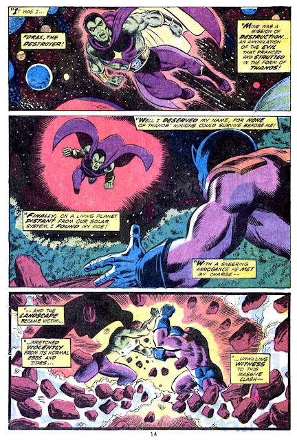 Iron Man v1 #55 marvel comic book page art by Jim Starlin