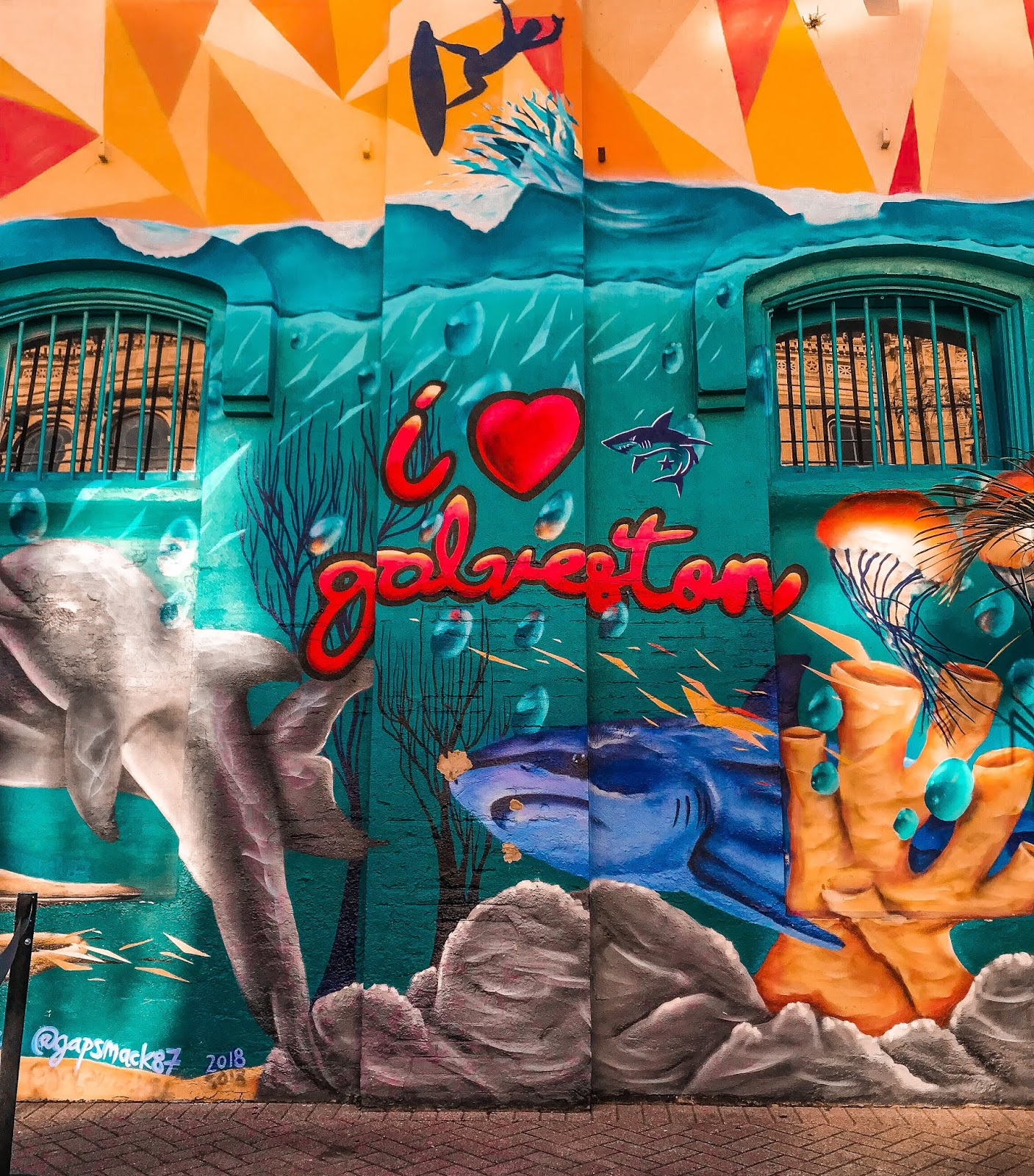 I Heart Galveston Mural