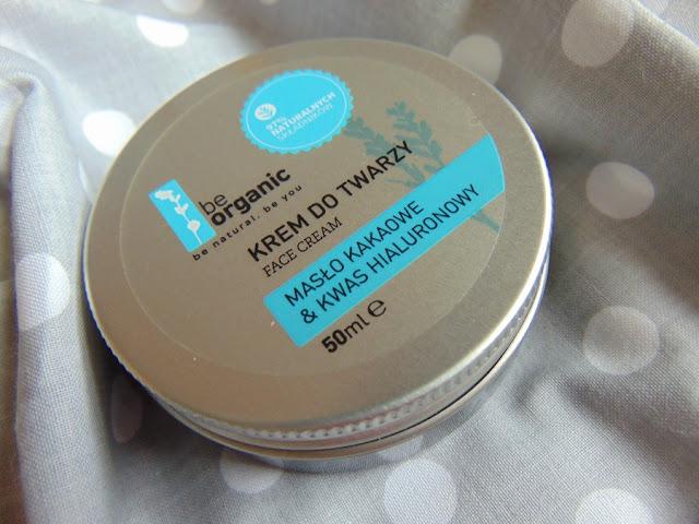 BeOrganic - Krem do twarzy Masło kakaowe i kwas hialuronowy