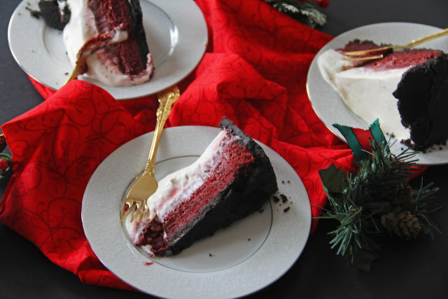 red velvet mississippie mud pie