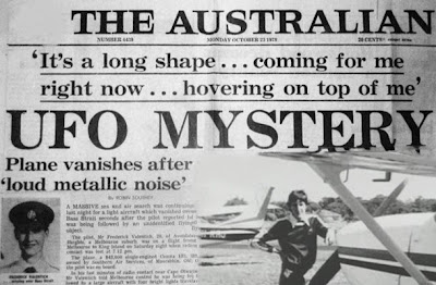 An Australian pilot and his plane disappeared after being apparently chased by a UFO