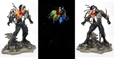 New York Comic Con 2020 Exclusive Marvel Comic Gallery Venom Glow in the Dark Edition PVC Diorama by Diamond Select Toys