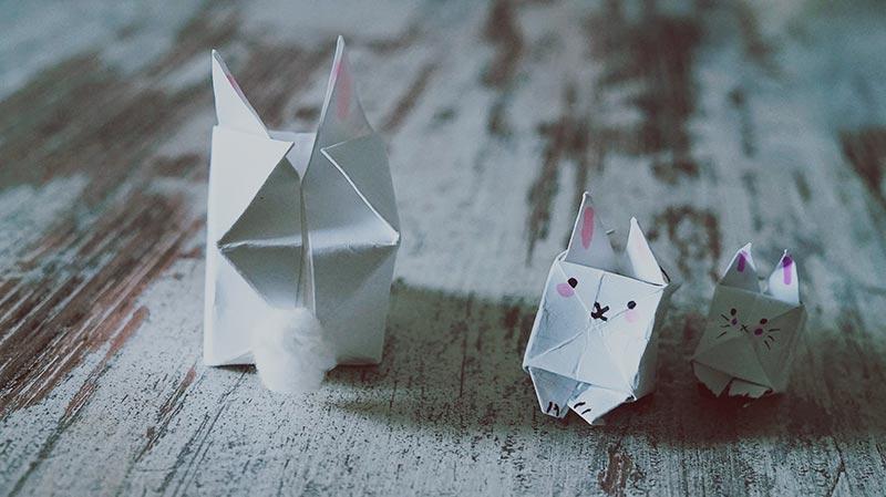 KuneCoco • DIY • Quadratische Häschen falten für Ostern