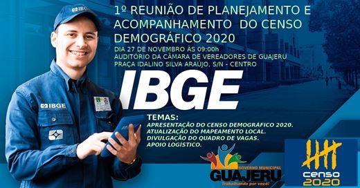 Governo de Guajeru convida população para reunião de planejamento e acompanhamento do censo 2020