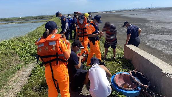 熱浪產生海市蜃樓擾救援 海巡消防助受困工人返岸際