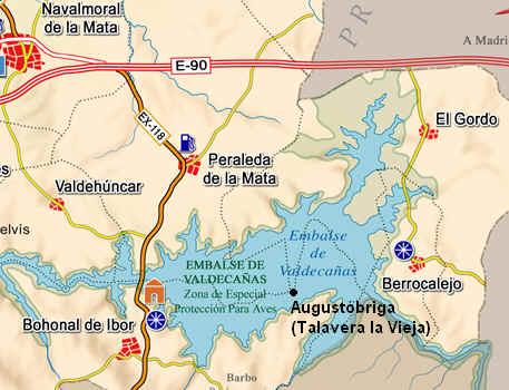 ¿Cómo llegar a las ruinas de Talavera la Vieja?