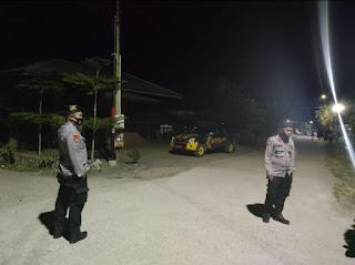 Cegah Terjadinya Tindak Pidana, Personel Polsek Malua Polres Enrekang Laksanakan Patroli Blue Light