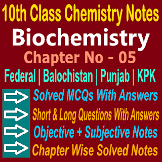 KPK Federal Balochistan Board Notes Chapter Wise Chemistry