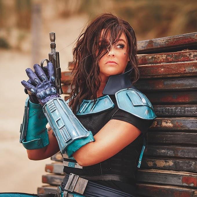 Arwenia con su cosplay de Cara Dune