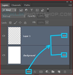 fungsi link layer photoshop