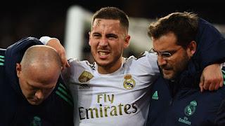 Eden Hazard set to miss Barcelona vs Real Madrid through injury
