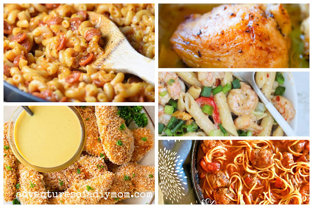 collage of dinner ideas for teens to make