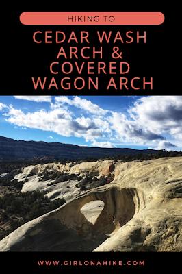 Cedar Wash Arch & Covered Wagon Arch, Escalante