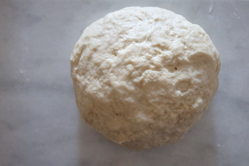 kneaded dough on counter