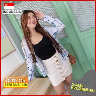 Dmb1196 Fashion Atasan Harajuku Tie Dye Basic Shirt Kemeja Wanita Abstrak Hits Muslimah