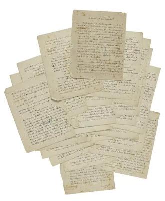 El manuscrito era parte de una colección que consta de otros textos excepcionales, como una carta de Albert Einstein sobre la existencia de Dios. Sotheby's Nueva York