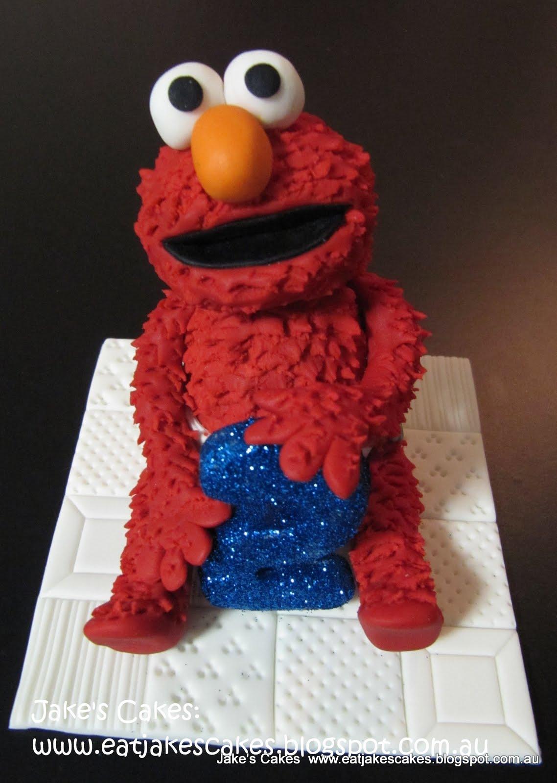 Jakes Cakes Fondant Elmo cake topper