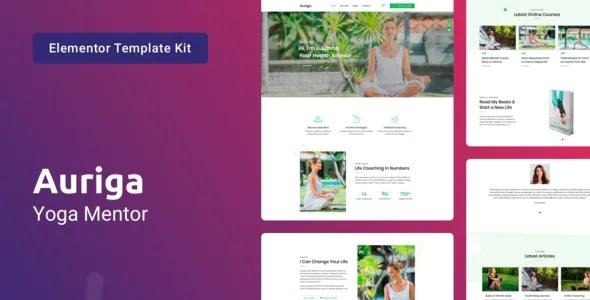 Best Health Coach & Yoga Mentor Elementor Template Kit