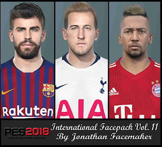 PES 2018 Facepack International v11 by Jonathan Facemaker