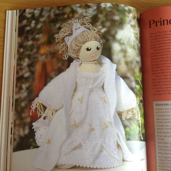 picture of knitted princess doll